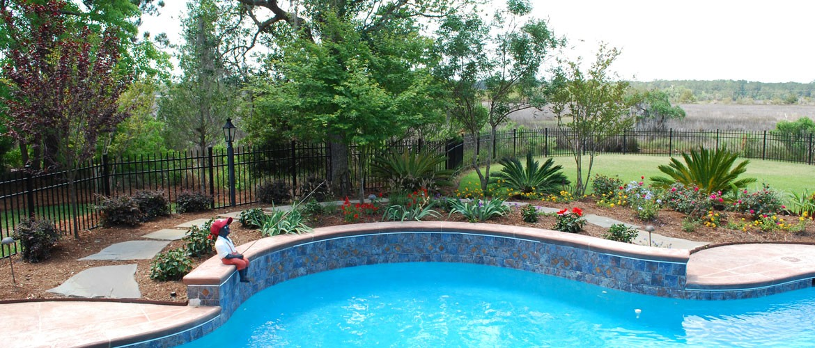 pool landscaping charleston sc